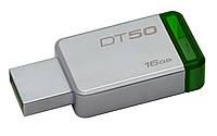 USB флешка Kingston DataTraveler 50 16GB Metal/Green USB 3.1 (DT50/16GB)