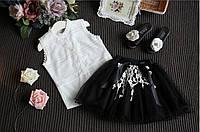 Костюм блуза и юбка летний для девочки.