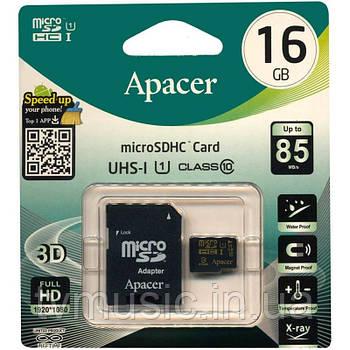 Карта памяти Apacer microSDHC UHS-I 85R 16GB Class 10 (AP16GMCSH10U5-R)