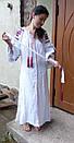 Вышитое платье белое вышиванка лен, этно, стиль бохо шик, вишите плаття вишиванка, Bohemian,стиль Вита Кин, фото 2