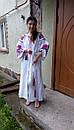Вышитое платье белое вышиванка лен, этно, стиль бохо шик, вишите плаття вишиванка, Bohemian,стиль Вита Кин, фото 6