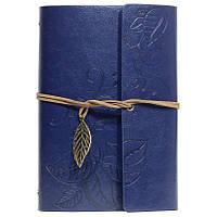 Стильный блокнот со сменными листами (синий)