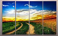 Модульная картина украинский пейзаж купить недорого