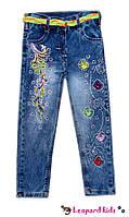 Джинсы вышивка для девочки 8-12лет