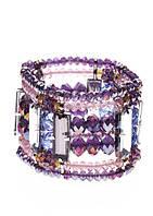 21053140 Массивный стильный браслет Honey (Хани) из 100 % меди, покрытый родием (группа платиновых).
