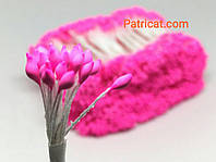 Тайские тычинки Розовые Матовые Свечка 2 мм 25 шт/уп