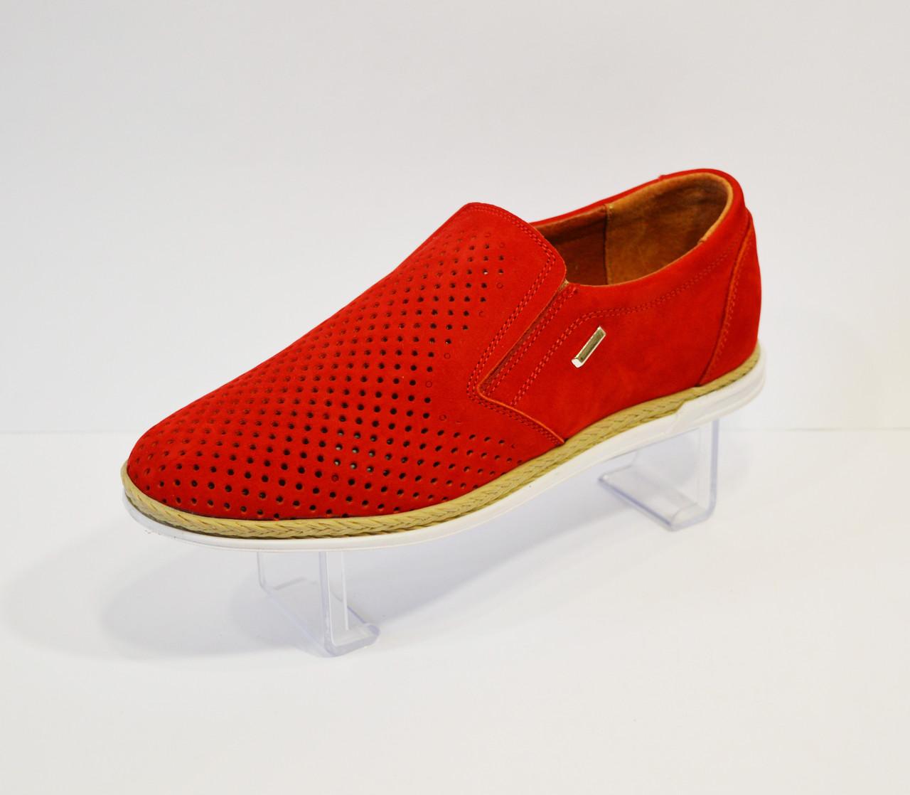 Мокасины мужские красные Konors 873