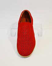 Мокасины мужские красные Konors 873, фото 2