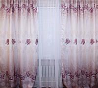 Комплект готовых штор с принтом 048ш