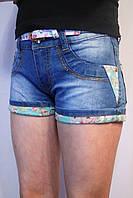 Летние стрейчевые, джинсовые шорты для девочек-подростков на рост от 134 до 164см. (8-16лет). YLH. Польша.