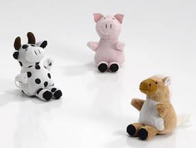 Игрушка мягкая Pet Pro для собак дрожащая зверушка, 10 см