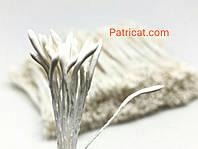 Тайские тычинки Молочные Матовые Длинные 1 мм 25 шт/уп
