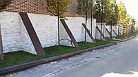 Кирпичек рустованный из мрамора ( белый с примесью серого) (белый) 6хL ,10хL турция