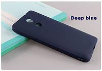 Синий Матовый Силиконовый чехол для Xiaomi Redmi Note 4