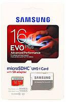 Карта памяти Samsung microSDHC 16GB EVO Plus UHS-I Class 10 (MB-MC16DA/RU)