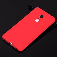 Красный Матовый Силиконовый чехол для Xiaomi Redmi Note 4