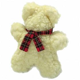 """Karlie-Flamingo Lamb""""s Fleece Bear КАРЛИ-ФЛАМИНГО мягкая игрушка для собак, мишка флисовый, с пищалкой, 18 см"""