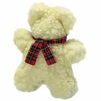 """Karlie-Flamingo Lamb""""s Fleece Bear КАРЛИ-ФЛАМИНГО мягкая игрушка для собак, мишка флисовый, с пищалкой, 25 см"""