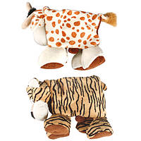 Karlie-Flamingo Plush Safari Animals КАРЛИ-ФЛАМИНГО САФАРИ складная мягкая игрушка для собак, тигр, корова, плюш