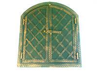 """Дверь коптилки(арка)(60*50)металл ковка """"батон""""большая"""