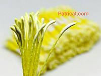 Тайские тычинки Лимонные Матовые Длинные 1 мм 25 шт/уп