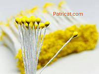 Тайские тычинки Желтые Матовые Круглые 2 мм 25 шт/уп