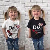 """Детская модная футболка """"DOLCE & GABANA"""" (2 цвета)"""