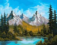 Живопись по номерам Турбо Горное озеро (VP654) худ. С. Стил 40 х 50 см