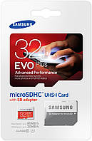 Карта памяти Samsung microSDHC 32GB EVO Plus UHS-I Class 10 (MB-MC32DA/RU)