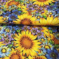 Ткань с желтыми подсолнухами, фото 1