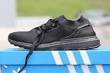 Кроссовки летние Adidas Ultra boost Uncaged черные, фото 3