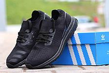 Кроссовки летние Adidas Ultra boost Uncaged черные, фото 2