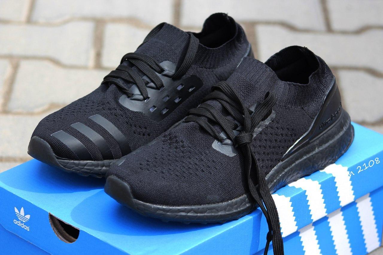 Кроссовки летние Adidas Ultra boost Uncaged черные