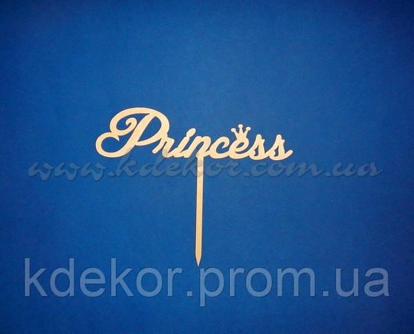 Princess топпер заготовка для декора