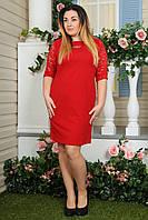 Платье батальное 2169 красное, фото 1