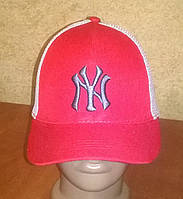"""Стильные бейсболки """"NY"""" с сеткой (красная), фото 1"""
