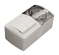 Вимикач ВП-2 + Розетка ОП-1EVA з/к з кришкою біла