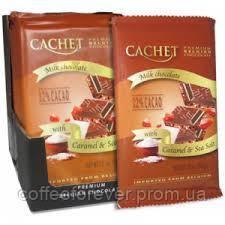 Шоколад молочный CACHET с карамелью и морской солью, 32% какао, 300г, фото 2