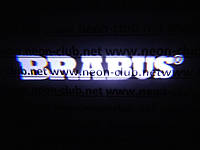 Подсветка дверей авто / лазерная проeкция логотипа Brabus Mercedes | Брабус