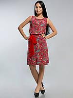 Платье штапельное 2135 красное