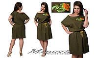 Платье женское  лен размеры 42-56