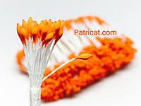 Тайские тычинки Оранжевые Матовые Свечка 2 мм 25 шт/уп