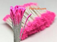 Тайские тычинки Розовые Матовые Длинные 1 мм 25 шт/уп