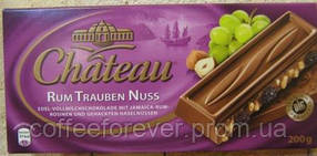 Шоколад молочный Chateau Rum Trauben Nuss 200 г