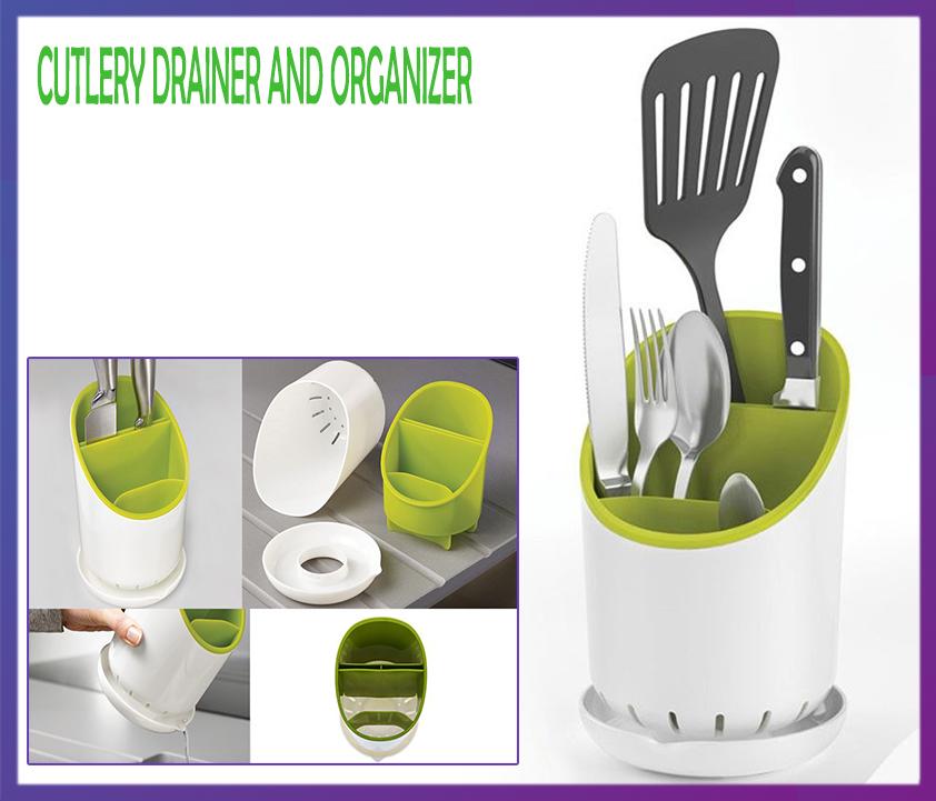 Подставка для кухонных приборов Cutlery Drainer and Organizer - Интернет магазин Zakupasik в Одессе