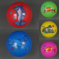 Мяч детский резиновый 772-416 (500) МИКС, 60гр