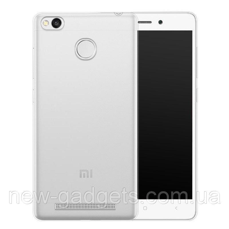 Чехол бампер для Xiaomi Redmi 3S силиконовый прозрачный