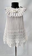 """Кружевное платье """"Плиссе"""" цвет """" молочный""""для девочек от 6 до 11 лет (32-38размер)"""