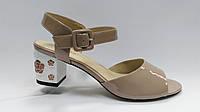 Кожаные лаковые босоножки на каблуке. Erisses. Большие размеры ( 40 - 43 )., фото 1