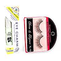 Накладные ресницы Beauties Factory Eyelashes (IL-12E) + клей для ресниц в подарок